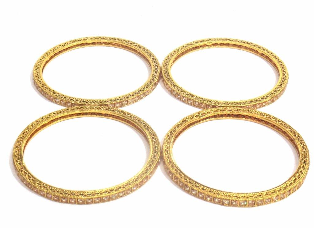 Jewelshingar Jewellery Fine Micro Plated Bangles For Girls ( 32536-m-2.6 ) by Jewelshingar (Image #3)
