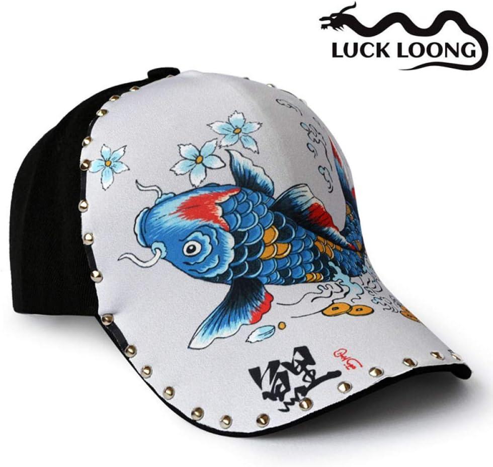 sdssup Sombrero Original ilustración Koi Fish Gorra de béisbol ...