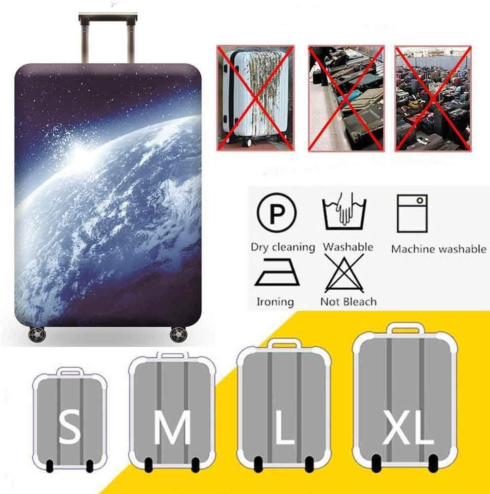3D Print Cosmic Starry Sky Design Travel Suitcase Protective Cover 18-32 Suitcase Protective Cover /& High Elastic Spandex,Pinknebula,S
