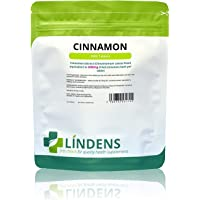 Lindens Cinnamon 2000mg Tablets   1000 Pack   Super Concentrated 30x Extract Equivalent to Half a Teaspoon of Cinnamon Spice