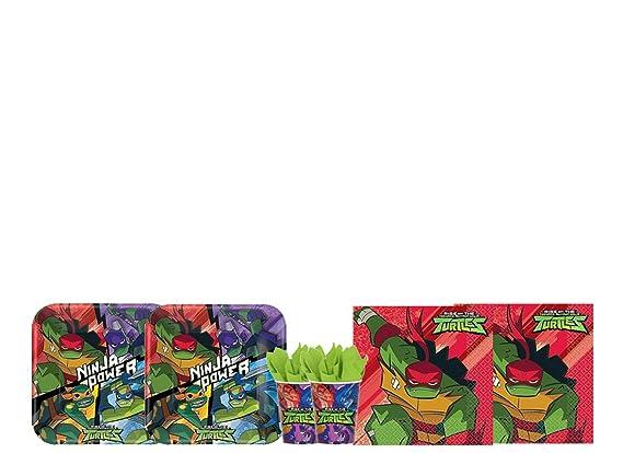 Pro Cos Kit - A Fiesta de cumpleaños Tortugas Ninja: Amazon ...