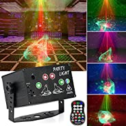 Apsung Party Stage Disco Lights, RGB Aurora Effect Projector Strobe Light Sound Activated Lights with Remote C