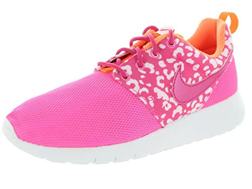 d5dcd0709728 Nike Kids Roshe One Print GS Running Shoe Pink Pow Vvd Pink Ttl Orng Wht 5  M US Big Kid  Buy Online at Low Prices in India - Amazon.in