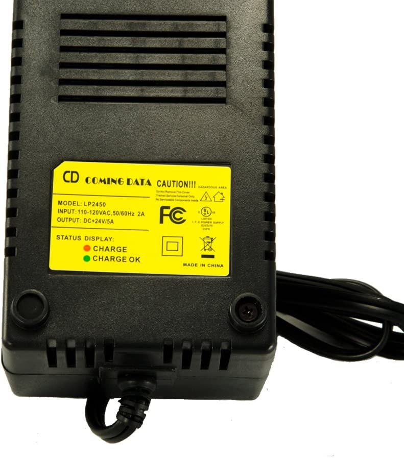E100 E225 Electric Scooter Battery Charger for Razor E200 E200S E175 E300 E125 E150 E325 E500 E225S E100S E300S E500S E325S MX350 MX400 ZR350 PR200 Pocket Mod Sports Mod Dirt Quad 3-Prong Inline