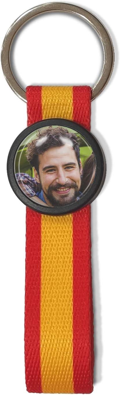 Llavero España Personalizado con Foto, Imagen o Nombre. Llavero Textil con Bandera. Regalo Personalizado. España: Amazon.es: Hogar