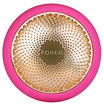 FOREO UFO Smart Mask Treatment Device Face Mask in Just 90 Seconds, Facial Mask Treatment with Thermo/Cryo/LED Light Therapy and Sonic Pulsation, Dedicated Smartphone App, Fuchsia, 146 g