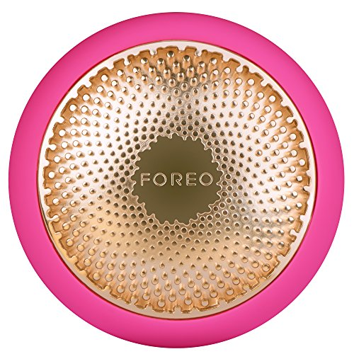 FOREO UFO Smart Mask Treatment Device with Thermo/Cryo/LED Light Therapy and Sonic Pulsation, Fuchsia (Color: Fuchsia)