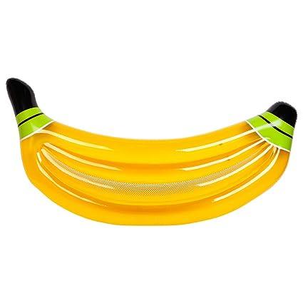 Flotador Inflable De La Piscina Banana Giant Drifter Mat con Válvulas Rápidas Outdoor Summer Portable Water