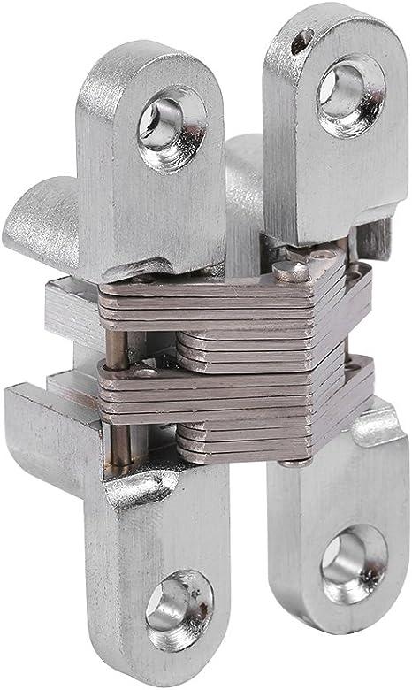 2 X Hidden-Cross Hinge Invisible Concealed Hinges-Folding Door Hinge-Durable