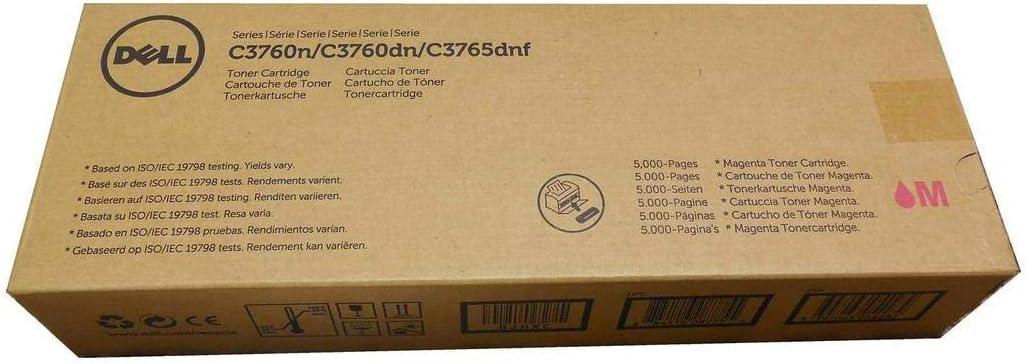 Dell 8JHXC Toner Cartridge C3760N/C3760DN/C3765DNF Color Laser Printer