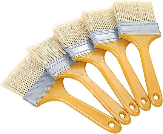 Brochas Pintura,Juego de 6 Piezas,Cepillo de Pintura Pinceles para Paredes Pincel Barniz para Pintura de Pared y Muebles Brochas Pintor Profesionales