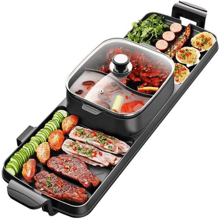 NILINMA Multifunctional Electric Hot Pot Smokeless Electric Oven, Non-stick Induction Cooker Baking Pan Baking Pan