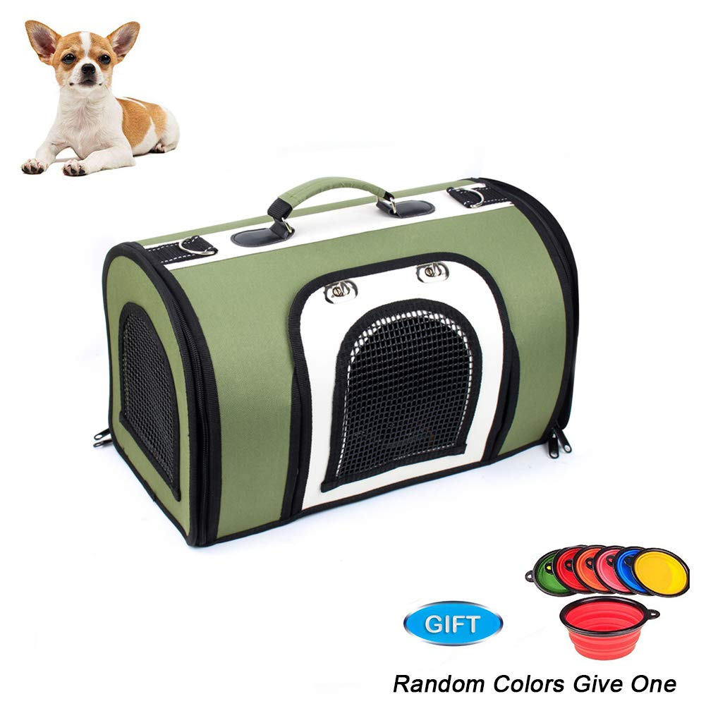 Hard Cover Pet Carrier for Cats and Puppies, Breathable, 47  29  32cm