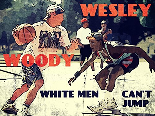 White Men Can't Jump Movie Retro Art Vintage Painting Basketball Woody Wesley Streetball 24x18 Poster Print