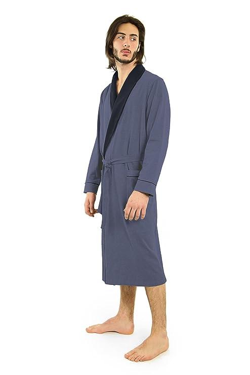 e02e48b54c Yugo Sport Mens Robe - Cotton Robes for Men Knit Lightweight - Kimono Wrap  Men s Bathrobe at Amazon Men s Clothing store