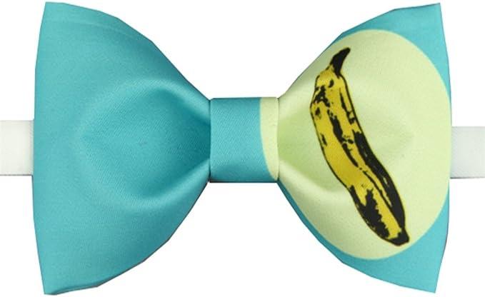 YYIILL Corbata de moño Pajarita impresa Banana Groom Business ...