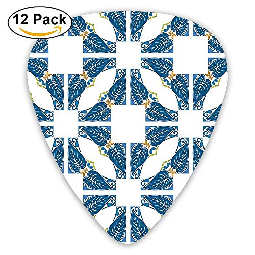 - Newfood Ss Portuguese Pavement Azulejo Mosaic With Diagonal Square And Shapes Guitar Picks 12/Pack Set