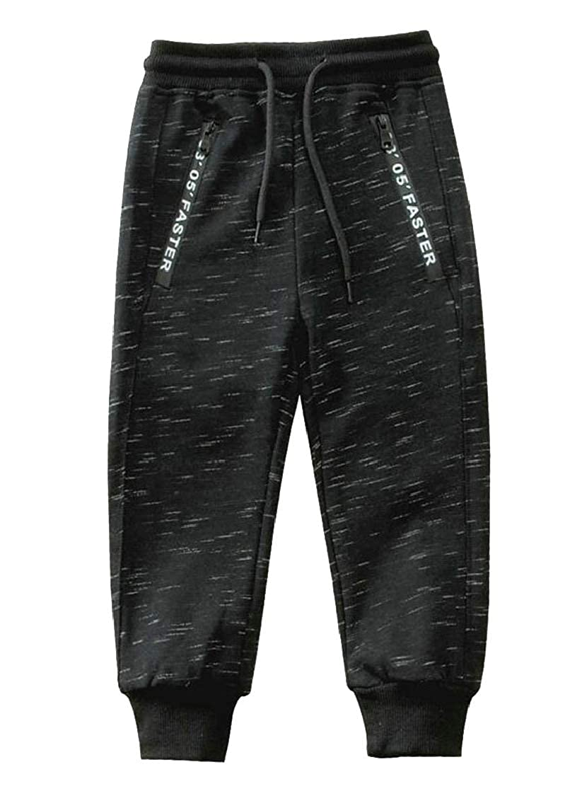 pipigo Boys Sweatpants Classic Athletic Slim Fit Cute Knitted Pants