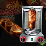 Zz Pro Shawarma Doner Kebab Machine Gyro Grill with 2 Burner Vertical Broiler for Commercial home Kitchen