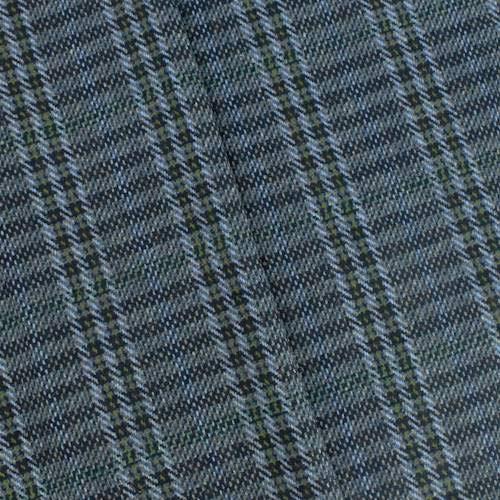 Navy Blue/Green/Multi Wool Blend Plaid Jacketing, Fabric by The Yard