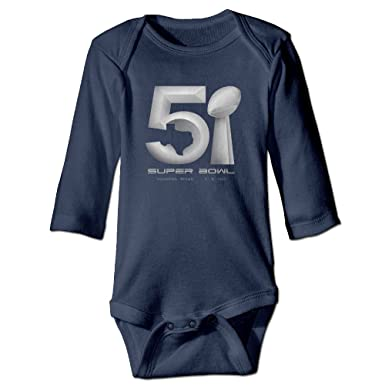 e96c0a7132 Amazon.com  Kid s Super Bowl 51 Logo Neutralcotton Baby Onesie Romper   Clothing