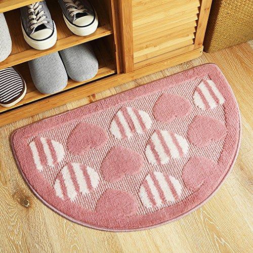 DYY Semi-circular hearth mat entrance entrance door bedroom kitchen bathroom anti-slip foot mat rug,Semicircle powd,4062cm