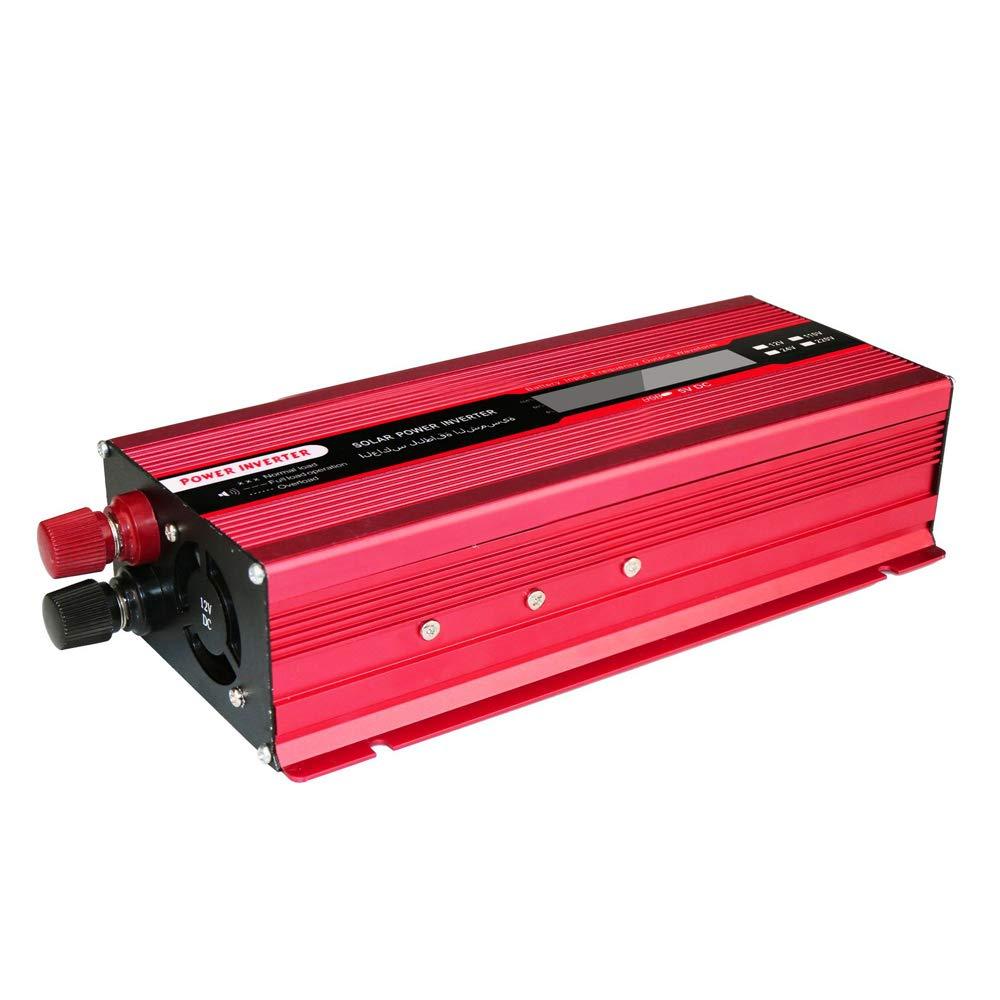 DC 12V zu AC 220V Wechselrichter mit LED Anzeige XMAGG 2000W Auto Spannungswandler f/ür Auto mit USB-Ladeanschluss und Direktanschluss an Autobatterie