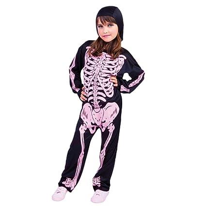 Disfraz Infantil - Esqueleto con Huesos Rosa 3-4 años
