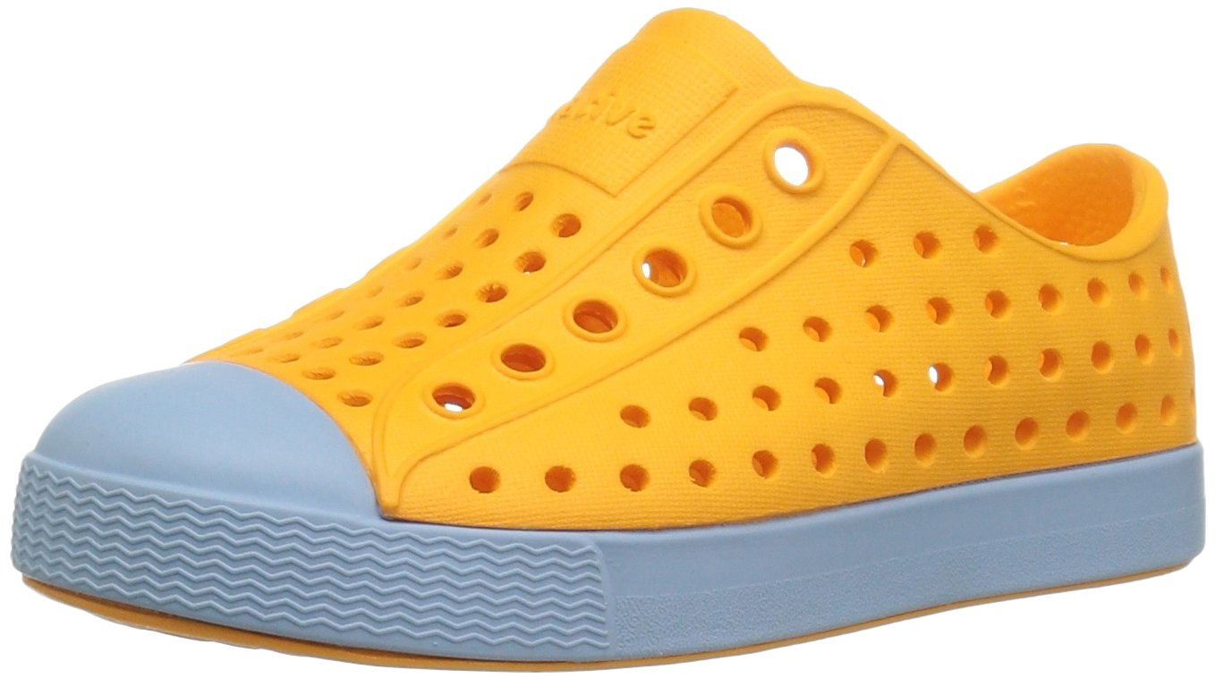 Native Kids Jefferson Water Proof Shoes, Marigold Orange/Sky Blue, 5 Medium US Big Kid