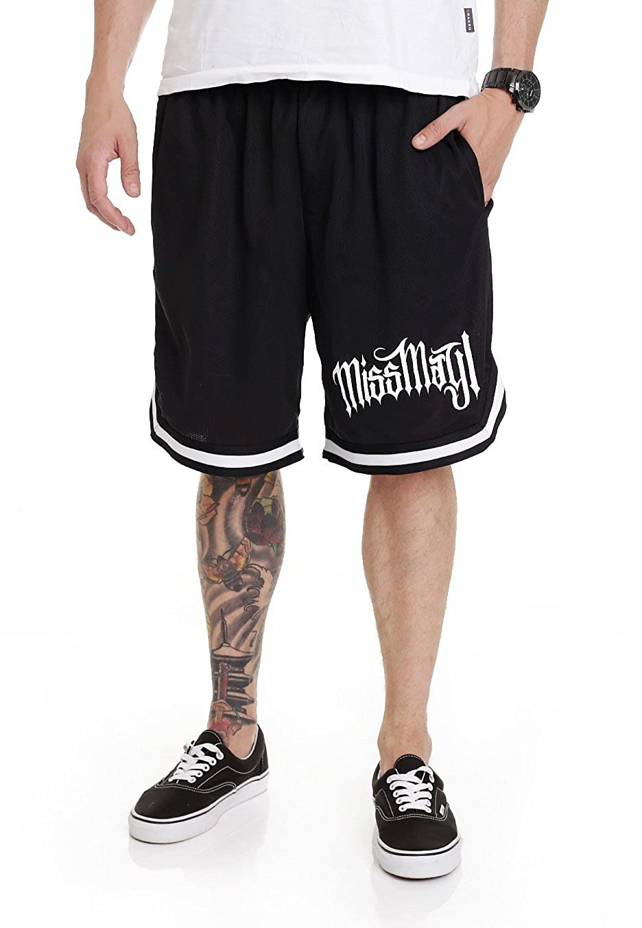Miss May I Horizontal Striped - Shorts