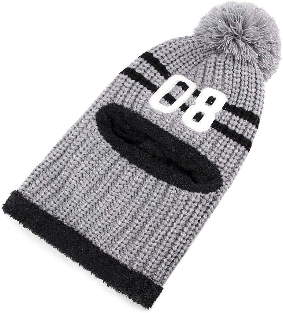 Winter Hats for Women Beanie Men Skullies Bonnets Winter Hair Ball Neckwear Plus Velvet Thick Knit Warm Hat Turban