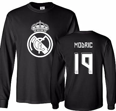 7839101ca Tcamp Real Madrid Shirt Luka Modric #19 Jersey Men's Long Sleeve T-shirt