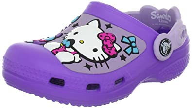 df05bddcfaff1d Crocs Hello Kitty Candy Ribbons Purple Lavender Mules And Clogs Sandal  12948-551-