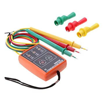 Indicador de Fase SM852B, Detector de 3 Fases, Voltaje 60 V-600 V