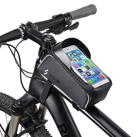 Hihey Bolsa de Cuadro de Bicicleta, Bolsa de teléfono de Bicicleta ...