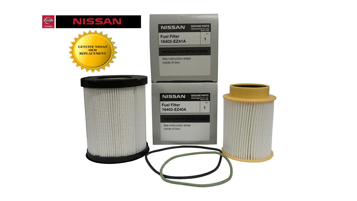 Genuine Oem Nissan Titan Xd 50l Diesel Fuel Filter Kit 99 F450 Housing Automotive