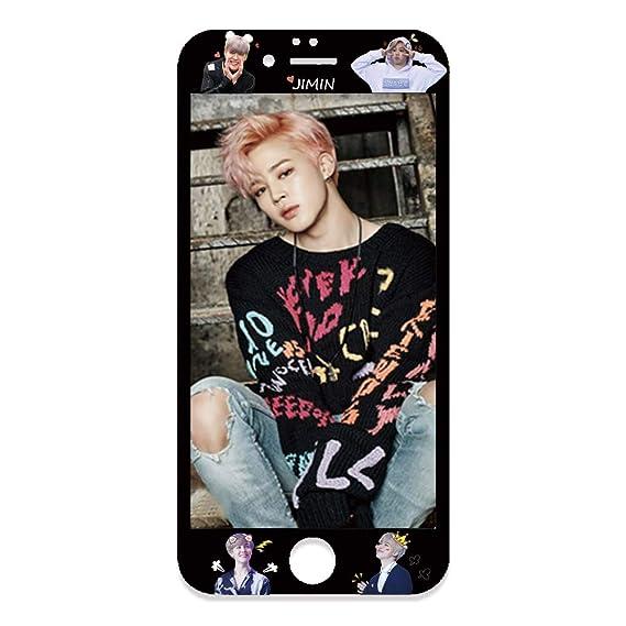 official photos 957d4 4140e BTS Bangtan Boys Mobile Phone Accessory Suga Jin Jimin Jung Kook Cell Phone  Screen Protector for iPhone (Jimin_Black, iPhone 7 Plus/iPhone 8 Plus)