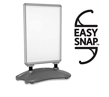 Forecourt Sign WaterBased Snap Frame Pavement Poster Holder Black//Silver A-Board