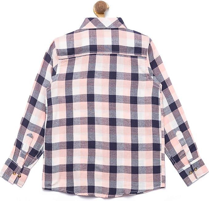 Nick&Jess Camisa de cuadros de algodón de corte regular para niños de 3 a 12 años: Amazon.es: Ropa y accesorios