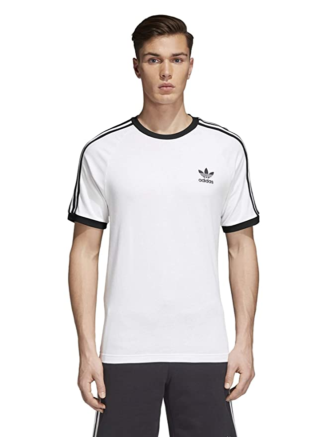 adidas Originals Men's 3-Stripes Tee,  White, Medium