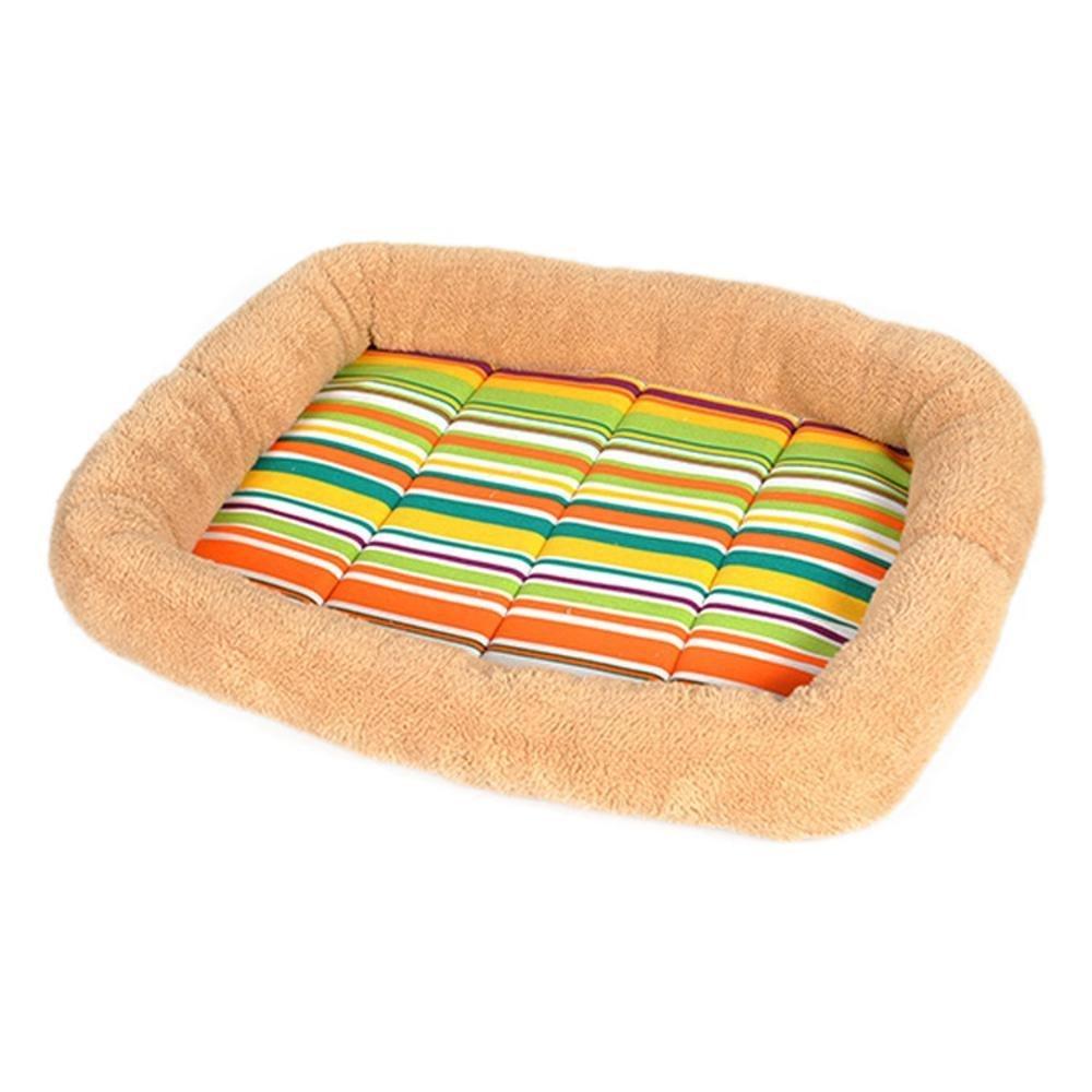 42349cm Lozse Pet Beds Pet Supplies Kennel Mat Vigor colorful Bar pet cushion Shu Cotton Velvet for Dogs and Cats Sleeping Cushion