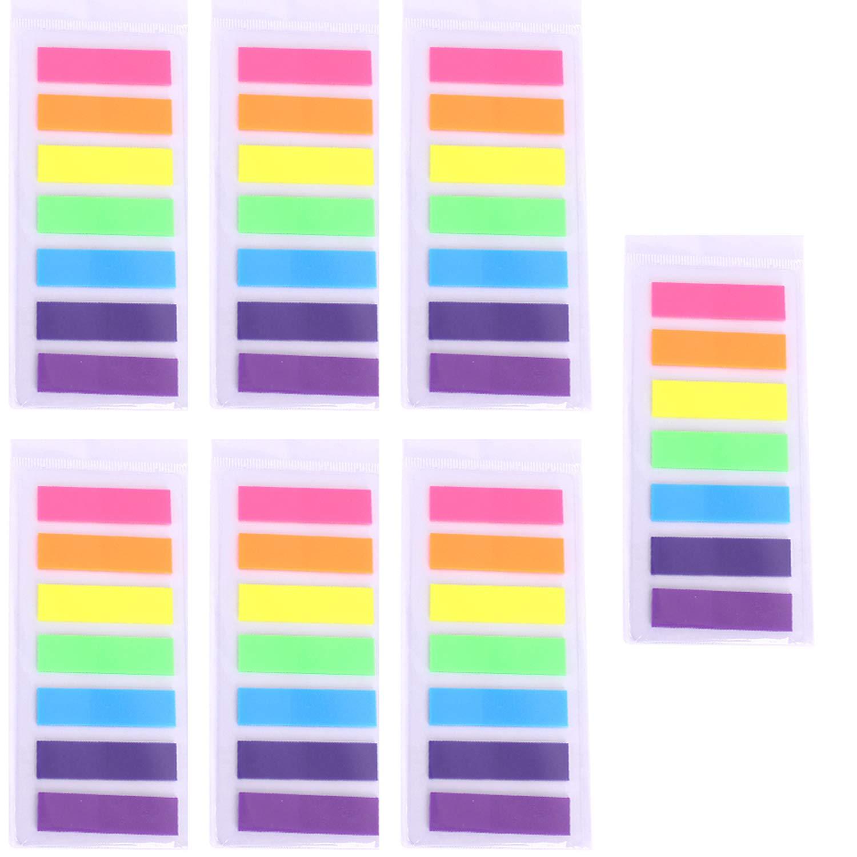 Segnapagina Adesivi Nota Blocchetti memo adesivi Linguette adesive colorate di carta linguette adesive per Marcatore Segnalibri (7 Colori 980 Pezzi) moinkerin