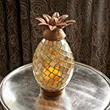 Smart Living Ananas Glass Mosaic Pineapple with LED Candle, 10