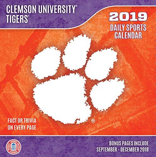 Tiger 2018 Calendar - Turner 1 Sport Clemson Tigers 2019 Box Calendar Desk Calendar (19998051493)