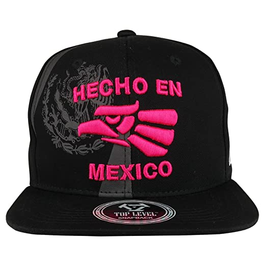 33796e25c Eagle and Hecho EN Mexico 3-D Embroidered Flatbill Snapback Cap