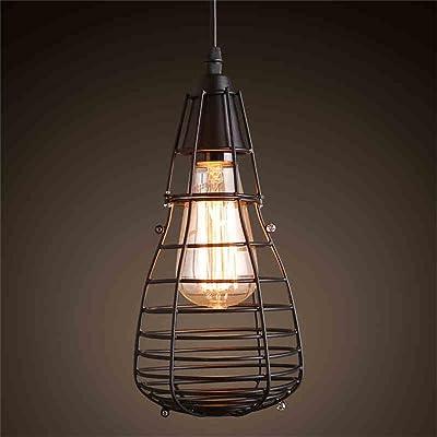Yong Shop Lustre Ampoule Petite Cage De Fer Magasin De Vêtements