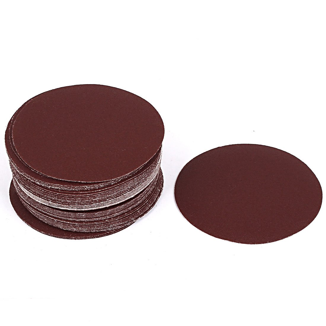 uxcell 4inch Dia Polishing Abrasive Sanding Flocking Sandpaper Disc 150 Grit 50 Pcs