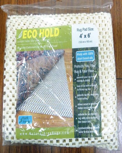 Eco Hold Rug Pad 2' x 8' - Earth Friendly, Provides Extra Cushion, For All Hard Surfaces, Heavier and Thicker than Most Rug Pads