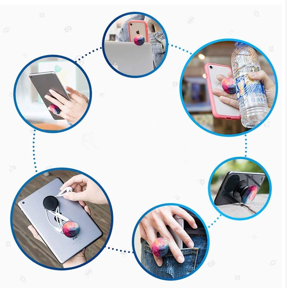 4 Pack - Blank Black Foldable Finger Holder Cell Phones and Tablets Stand