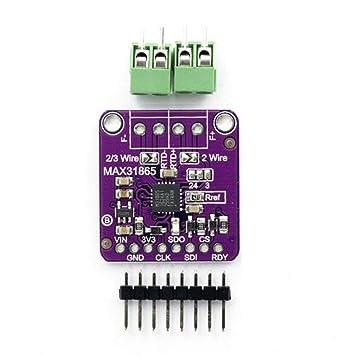 ZREAL Módulo del Amplificador del Sensor del termopar de la Temperatura de PT100 MAX31865 RTD para Arduino: Amazon.es: Electrónica
